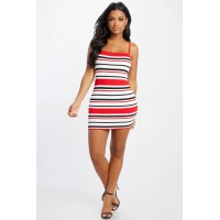 Women All Mine Striped Dress Bodycon dress featuring a striped pattern throughout. Scoop neck VOXUUCM