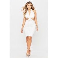 Women Around Town Dress Halter dress featuring side cut out details. V neck TANHOCF