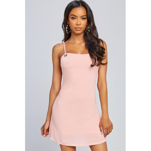 Women Out Of This Town Dress Mini dress featuring silver grommetdetails. Scoop neck YQBZHFJ