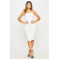Women Touch Me Dress Midi bodycon dress featuring a open back. Scoop neck WMXCFJI