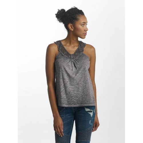 Kaporal Women Tank Tops Knitted in grey V-neck IMANE18W10GRY PDYHCOH