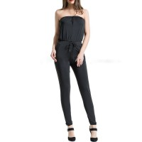 Women HOLA SARA Casual Solid Sleeveless Jumpsuit 95% Polyester 5% Spandex 10JU4B5983 JOWQHDN